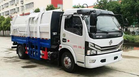 国六东风7方多利卡挂桶式垃圾车