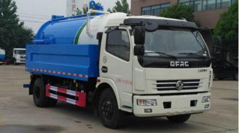 国六东风多利卡D7清洗吸污车